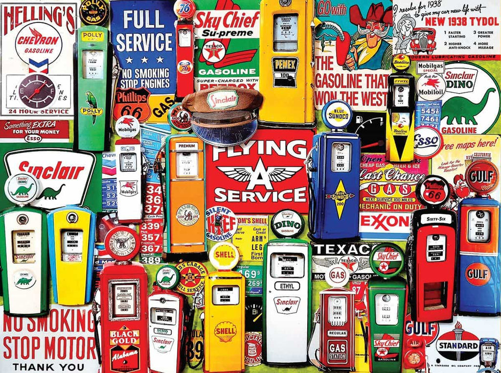 Gas Pumps (1194PZ) - 550 Piece Jigsaw Puzzle