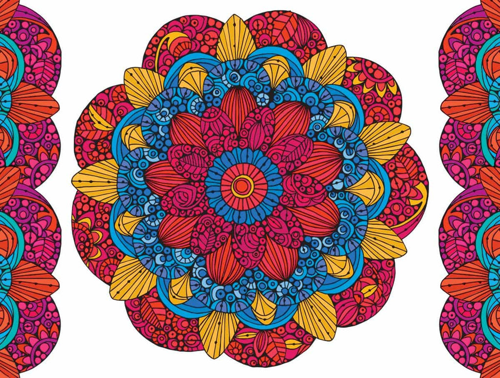 Mandala Coloring Puzzle - 300 Piece Coloring Jigsaw Puzzle
