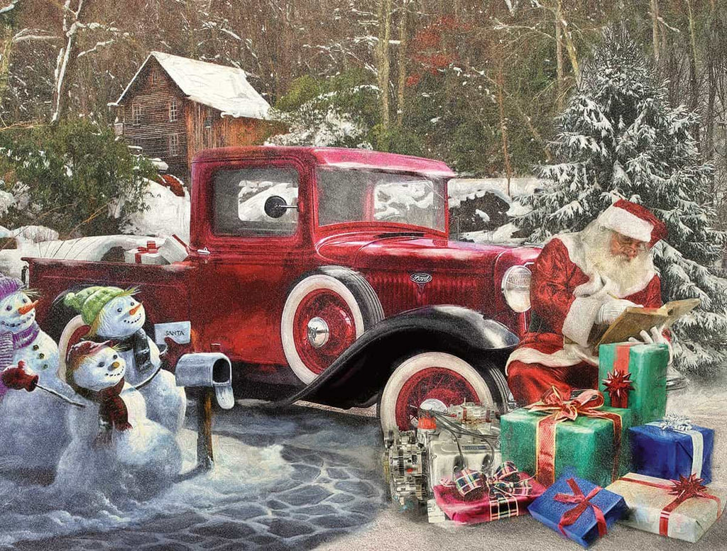 Santa and Truck (1210pz) - 1000 Piece Jigsaw Puzzle