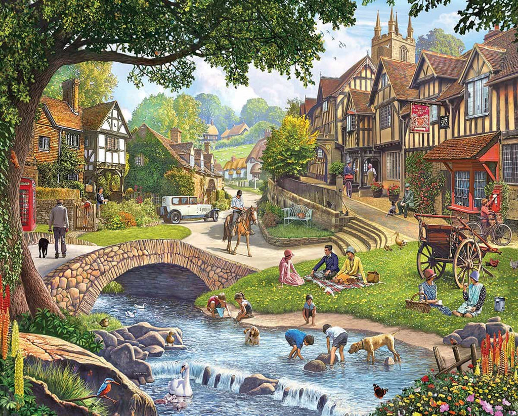 Summer Village (1212pz) - 1000 Piece Jigsaw Puzzle