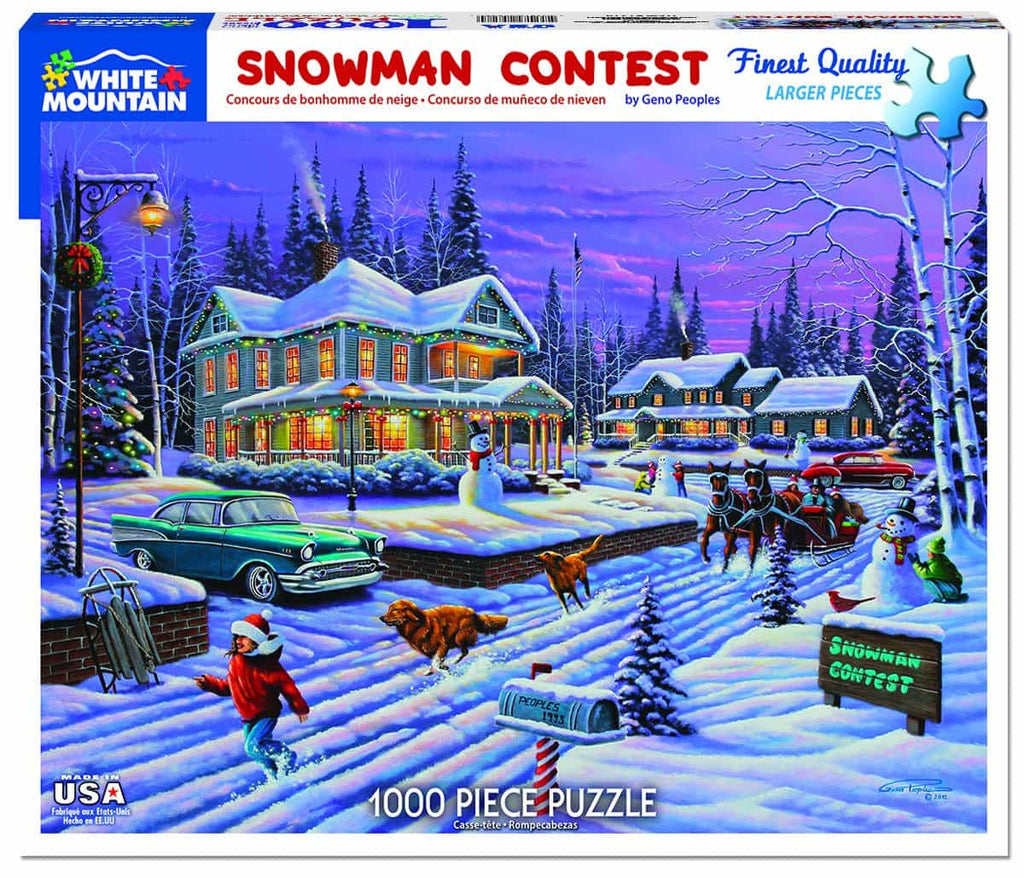 Snowman Contest - 1000 Pieces