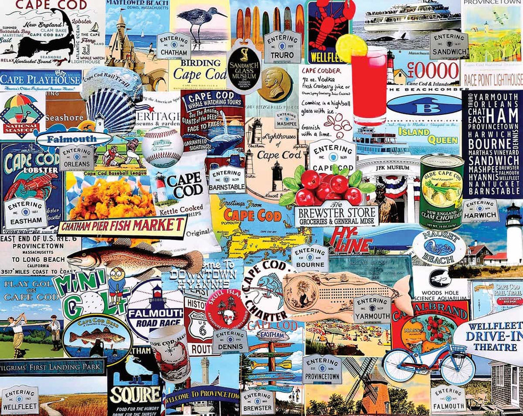 I Love Cape Cod (1222pz)- 1000 Piece Jigsaw Puzzle