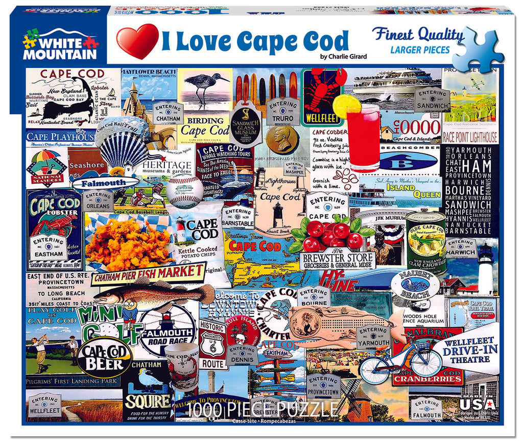 I Love Cape Cod (1222pz) - 1000 Piece Jigsaw Puzzle