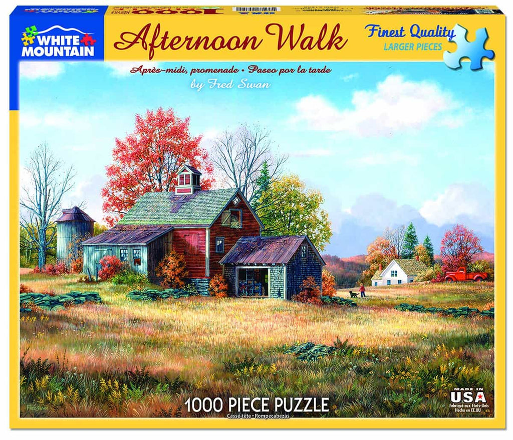 Afternoon Walk (1230pz) - 1000 Piece Jigsaw Puzzle
