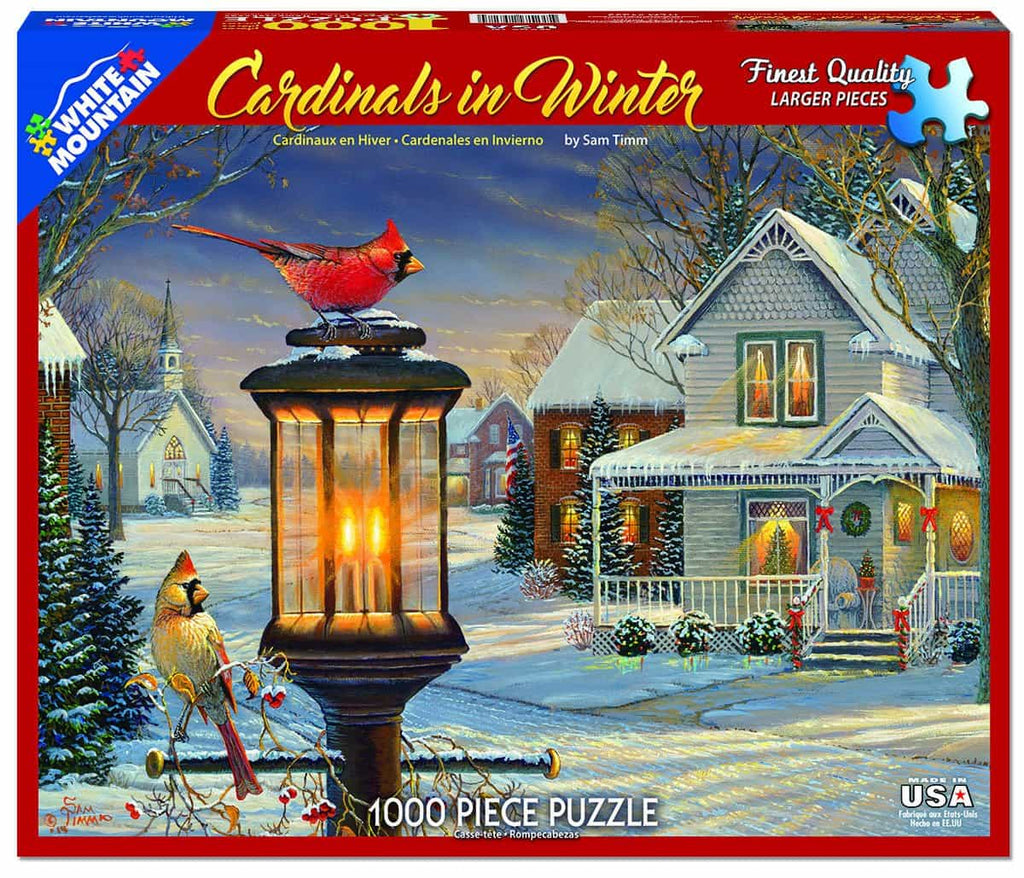 Cardinals in Winter - 1000 Pieces