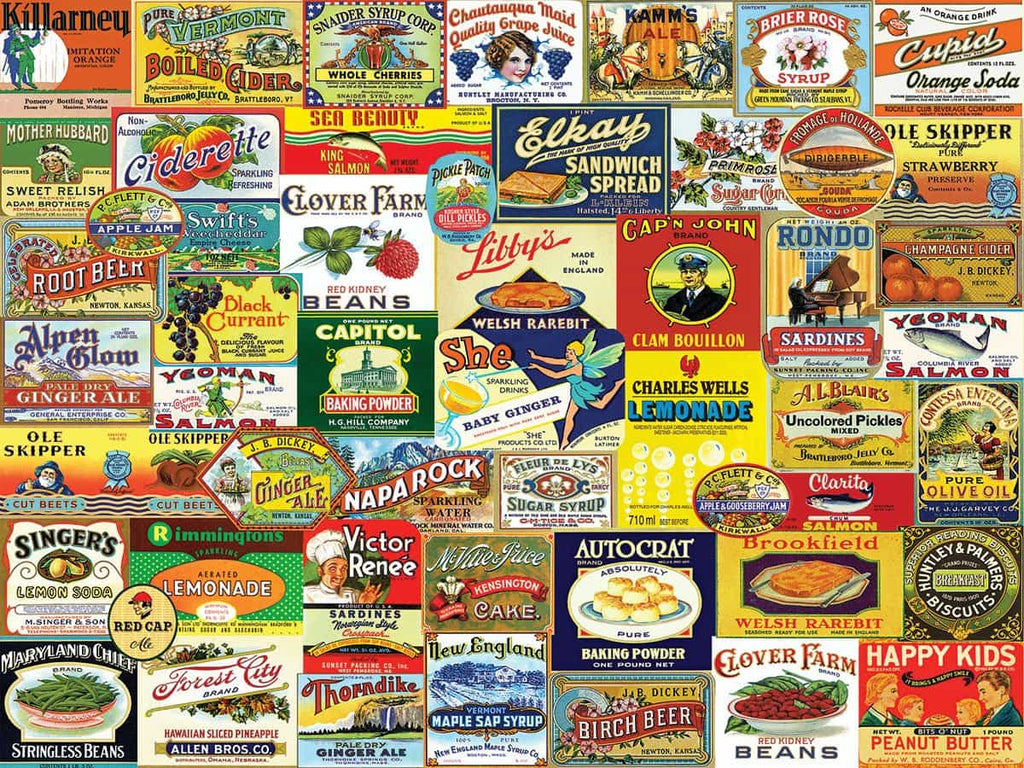 Vintage Food & Drink - 1000 Pieces - DISC