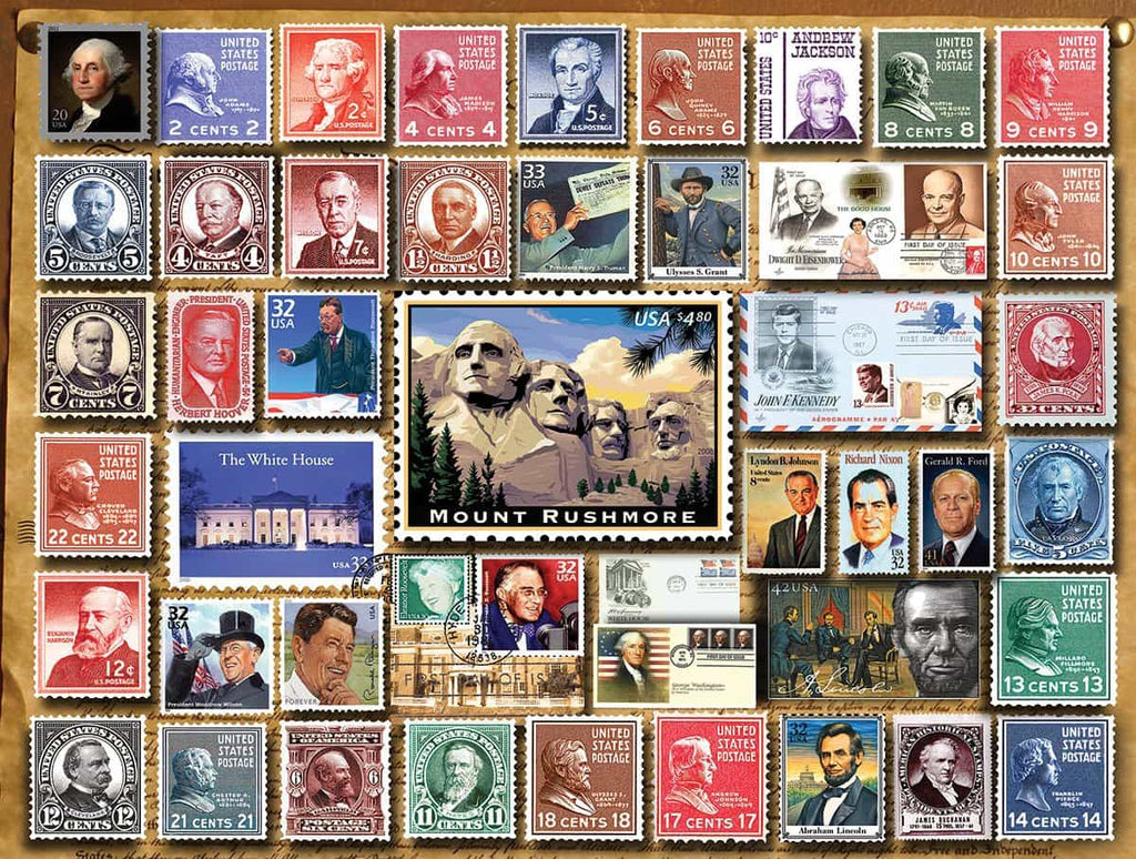Presidential Stamps - 1000 Pieces