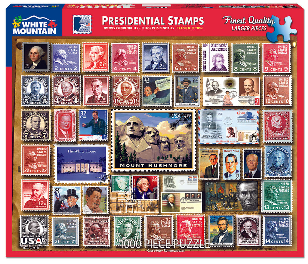 Presidential Stamps (1243pz) - 1000 Piece Jigsaw Puzzle