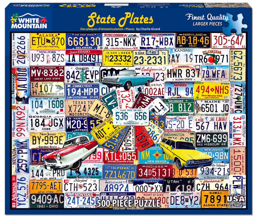 State Plates (1259PZ) - 550 Pieces