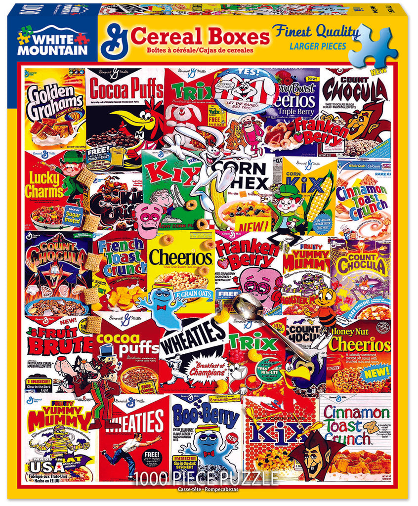 Cereal Boxes (1261pz) - 1000 Piece Jigsaw Puzzle