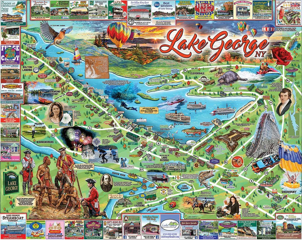 Lake George (1266pz) - 1000 Piece Jigsaw Puzzle