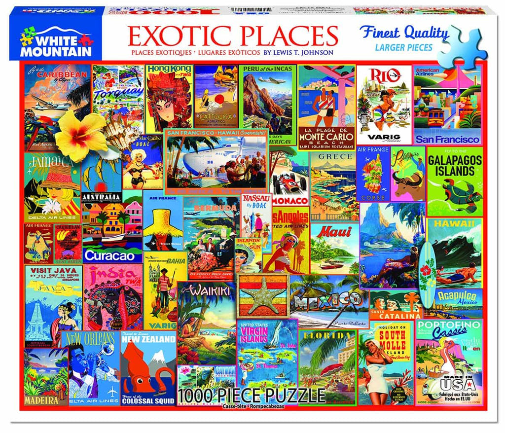 Exotic Places (1267pz) - 1000 Piece Jigsaw Puzzle