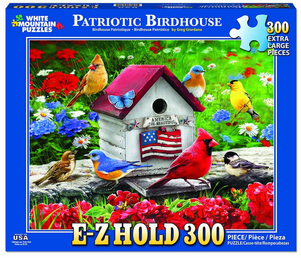 Patriotic Birdhouse - 300 Pieces