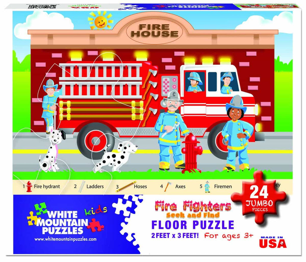 Fire Fighter Floor Puzzle - 24 Pieces