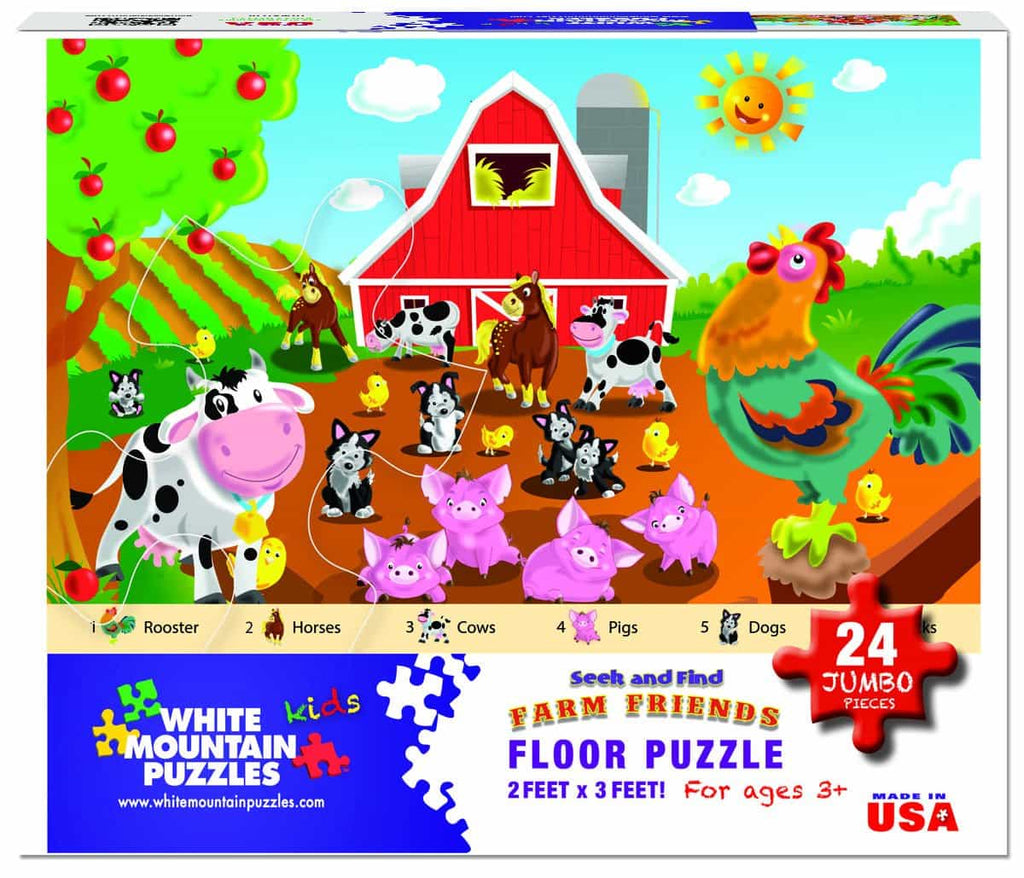 Farm Friends Floor Puzzle (1278pz) - 24 Piece Floor Puzzle