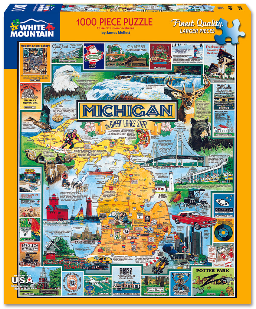 Best of Michigan (127PZ) - 1000 Piece Jigsaw Puzzle