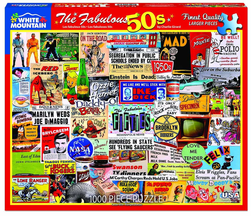 The Fabulous 50's (1281pz) - 1000 Piece Jigsaw Puzzle