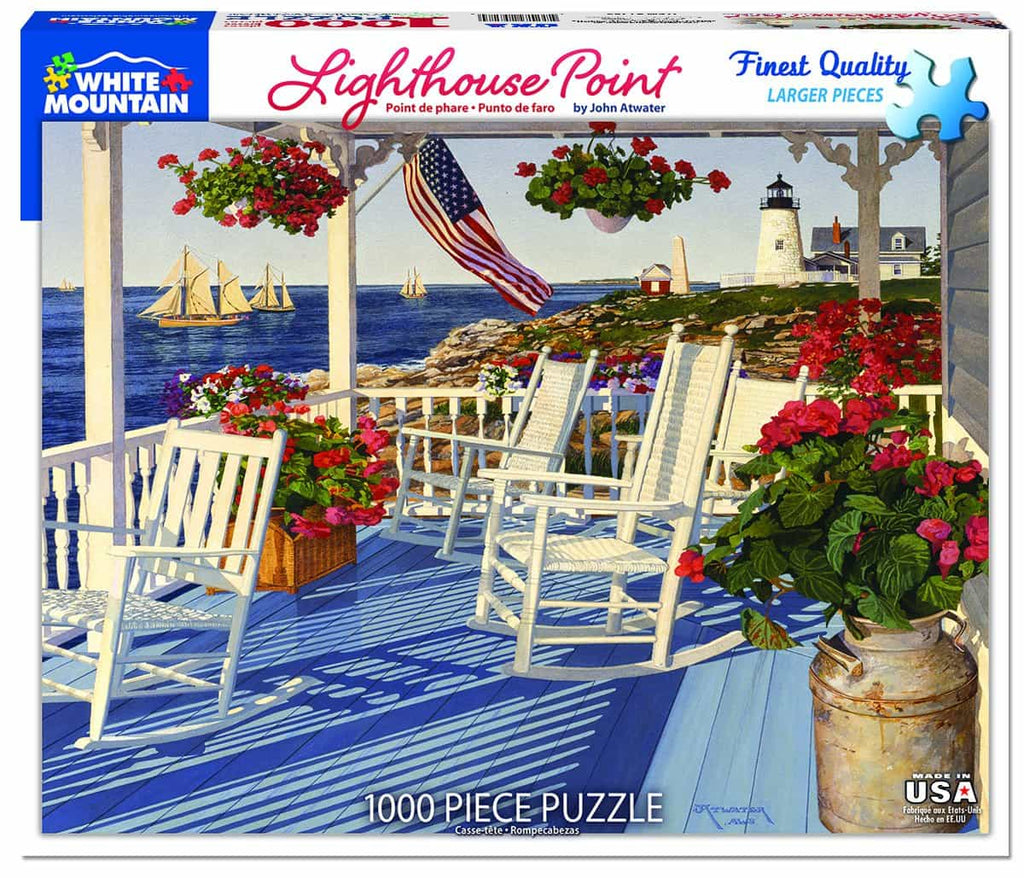 Lighthouse Point (1285pz) - 1000 Piece Jigsaw Puzzle