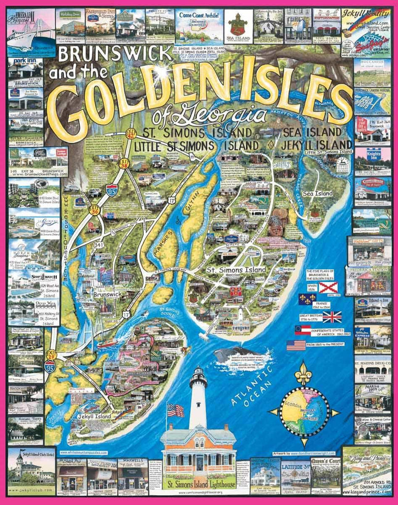 Brunswick-Golden Isles, GA - 1000 Pieces - DISC