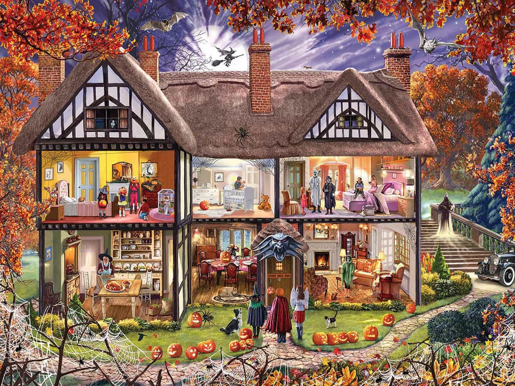 Halloween House (1290pz) - 1000 Piece Jigsaw Puzzle