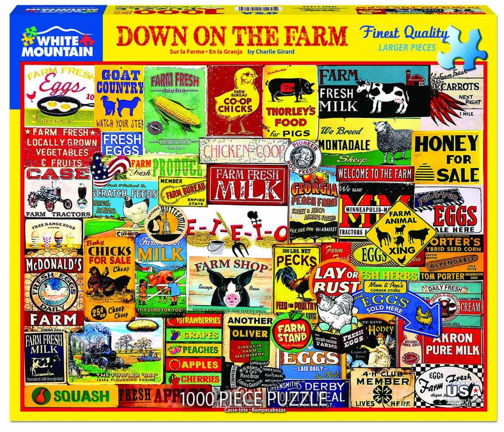 Down on the Farm (1292pz) - 1000 Piece Jigsaw Puzzle