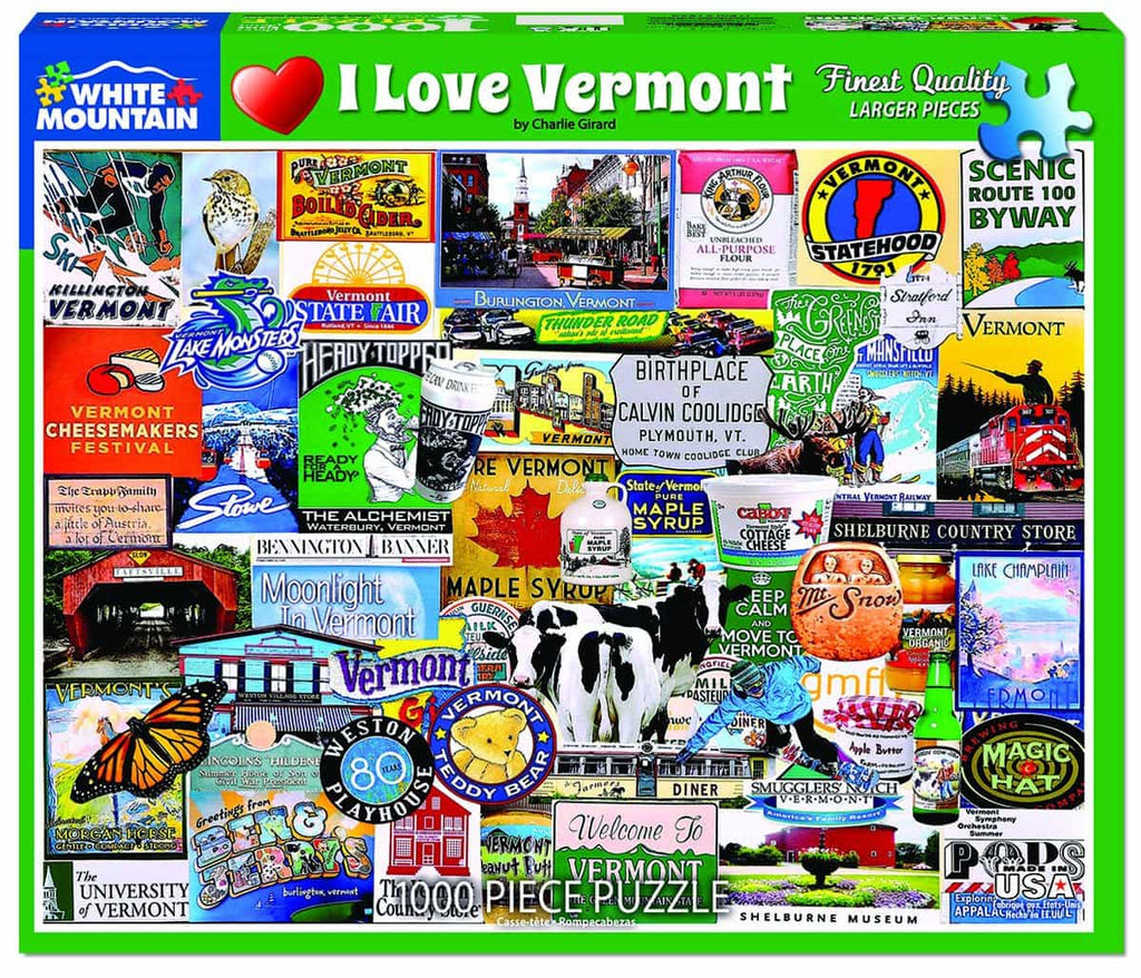 I Love Vermont - 1000 Pieces