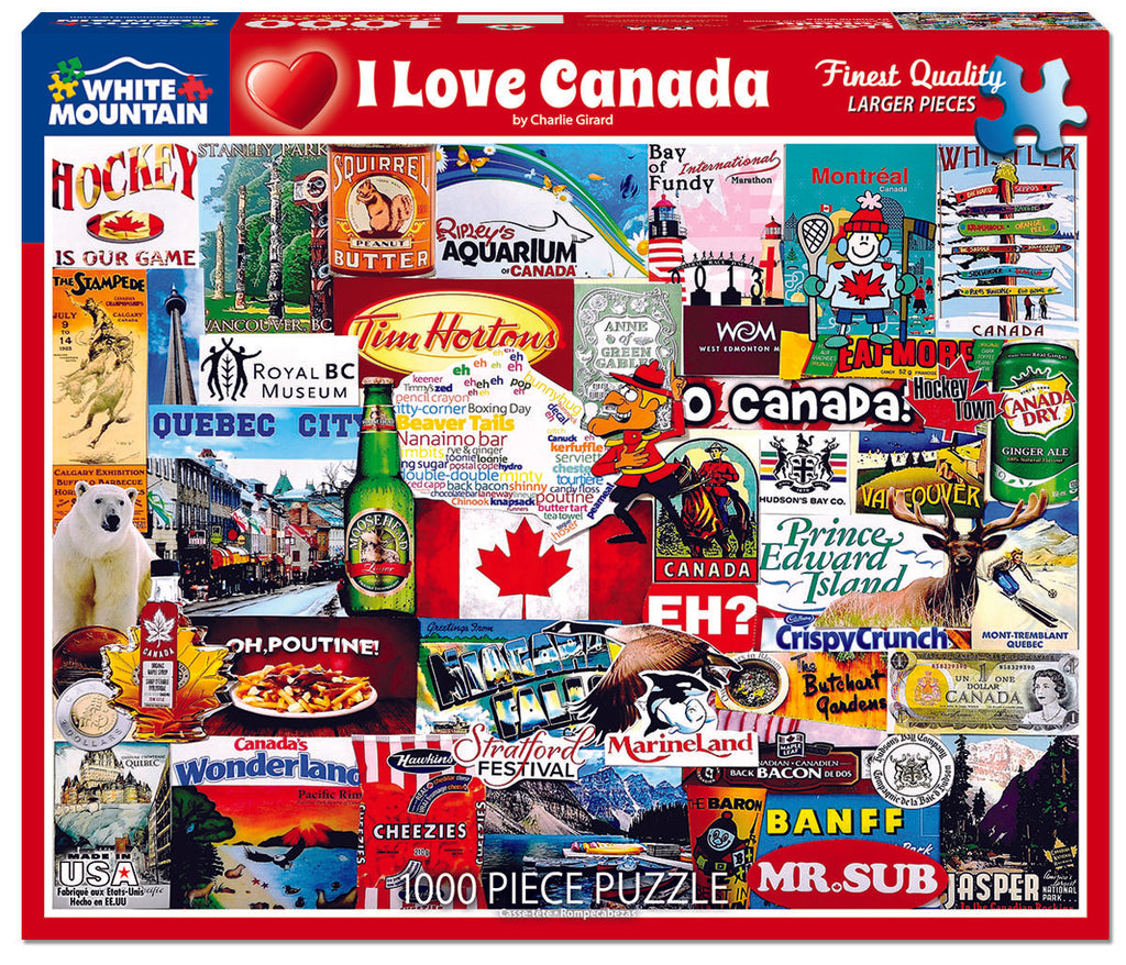 I Love Canada - 1000 Pieces