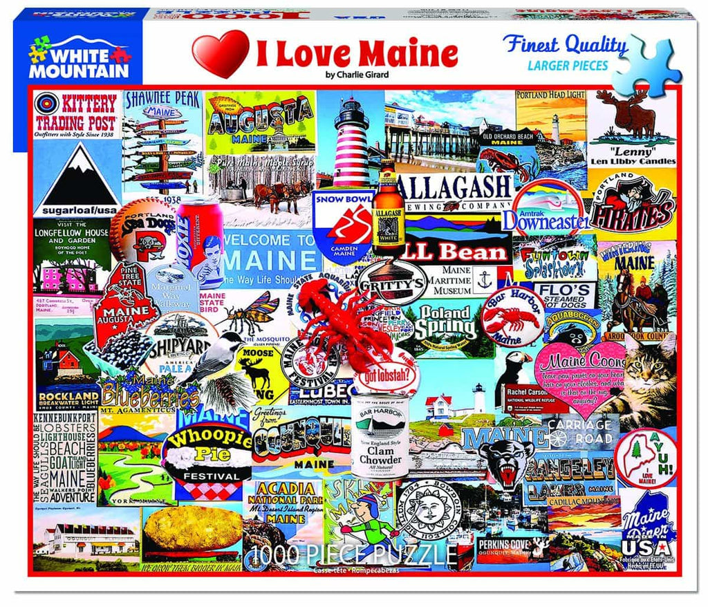 I Love Maine (1306pz) - 1000 Piece Jigsaw Puzzle