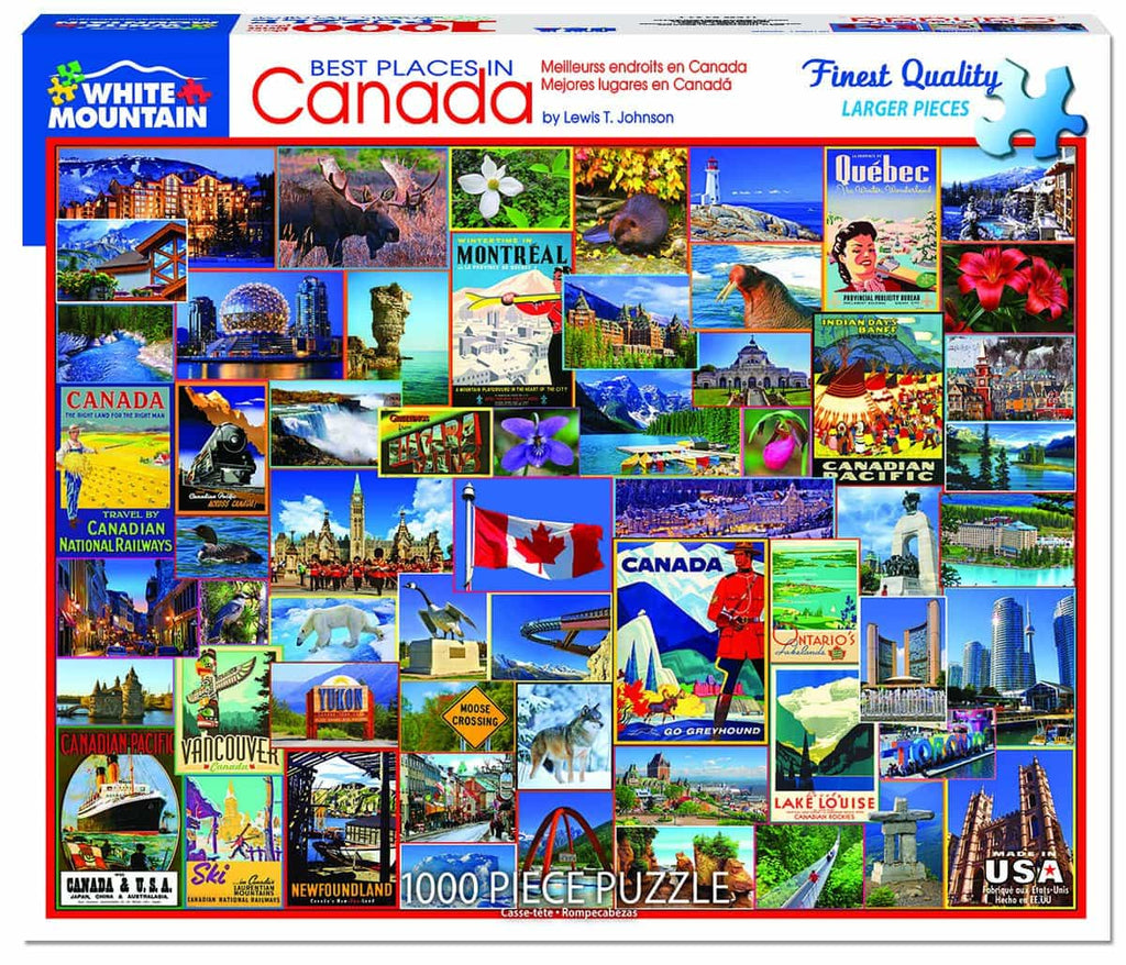Best Places in Canada (1317pz) - 1000 Piece Jigsaw Puzzle