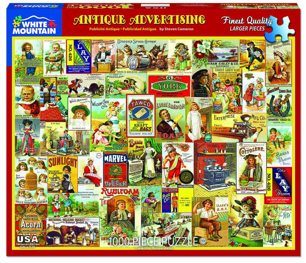 Antique Advertising - 1000 Pieces