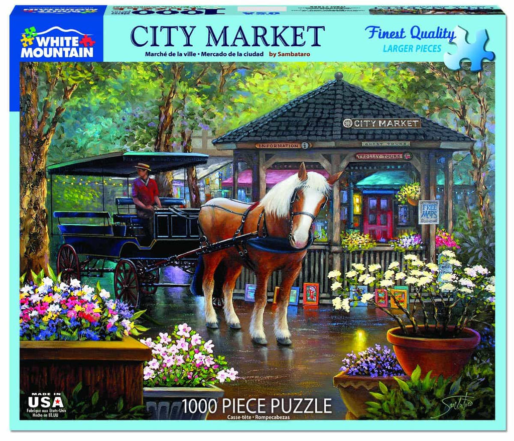 City Market (1322pz) - 1000 Piece Jigsaw Puzzle