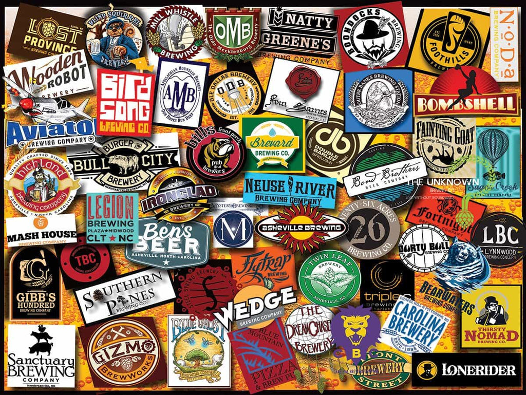 North Carolina Craft Beer (1324pz) - 1000 Piece Jigsaw Puzzle