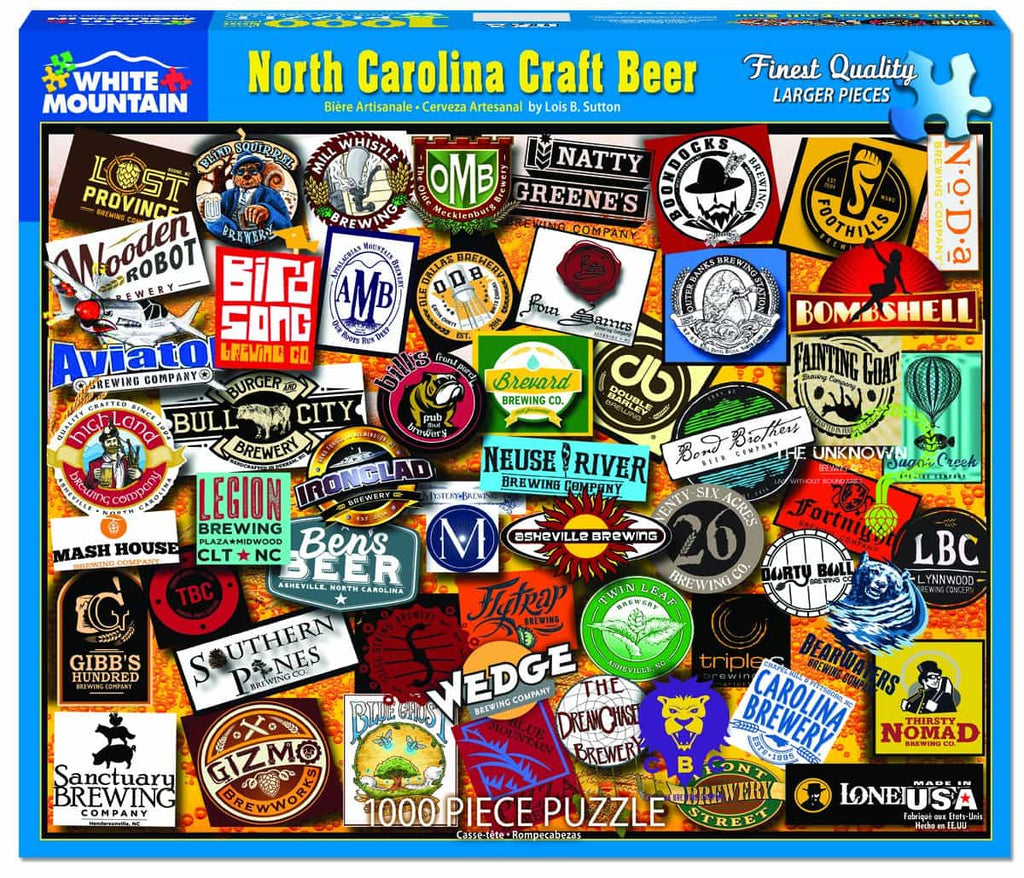 North Carolina Craft Beer (1324) - 1000 Piece Jigsaw Puzzle