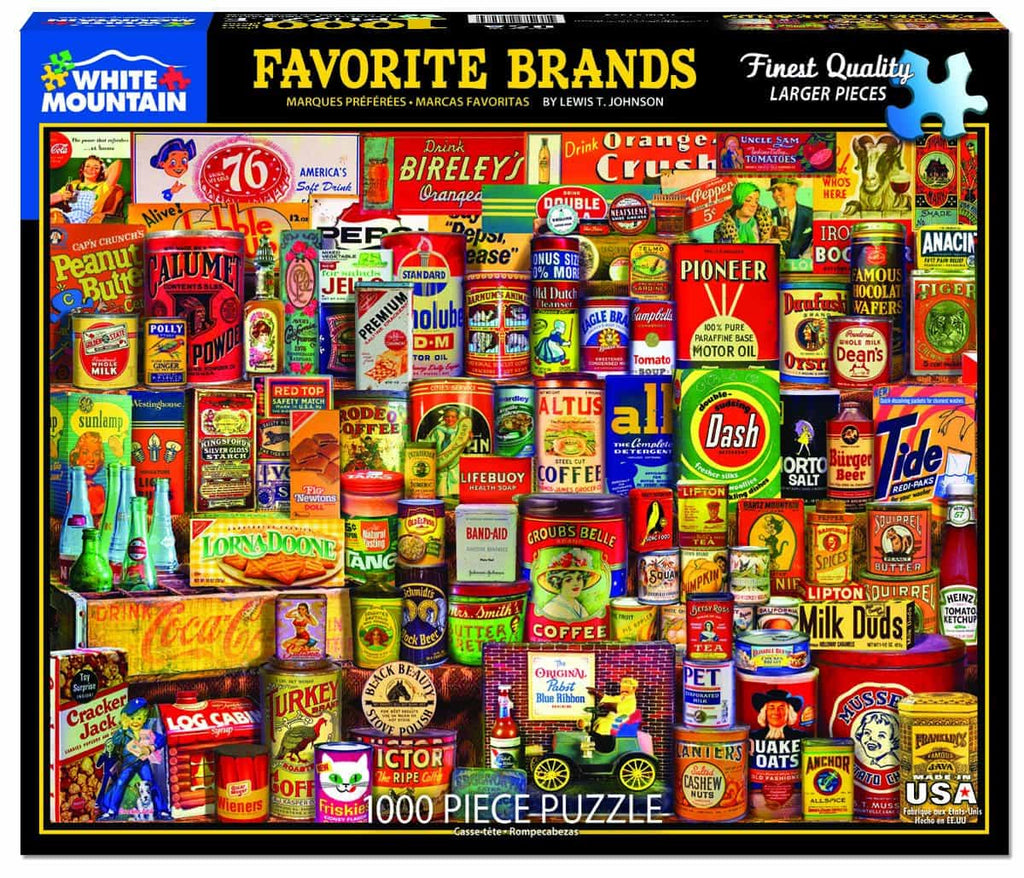 Favorite Brands (1329pz) - 1000 Piece Jigsaw Puzzle