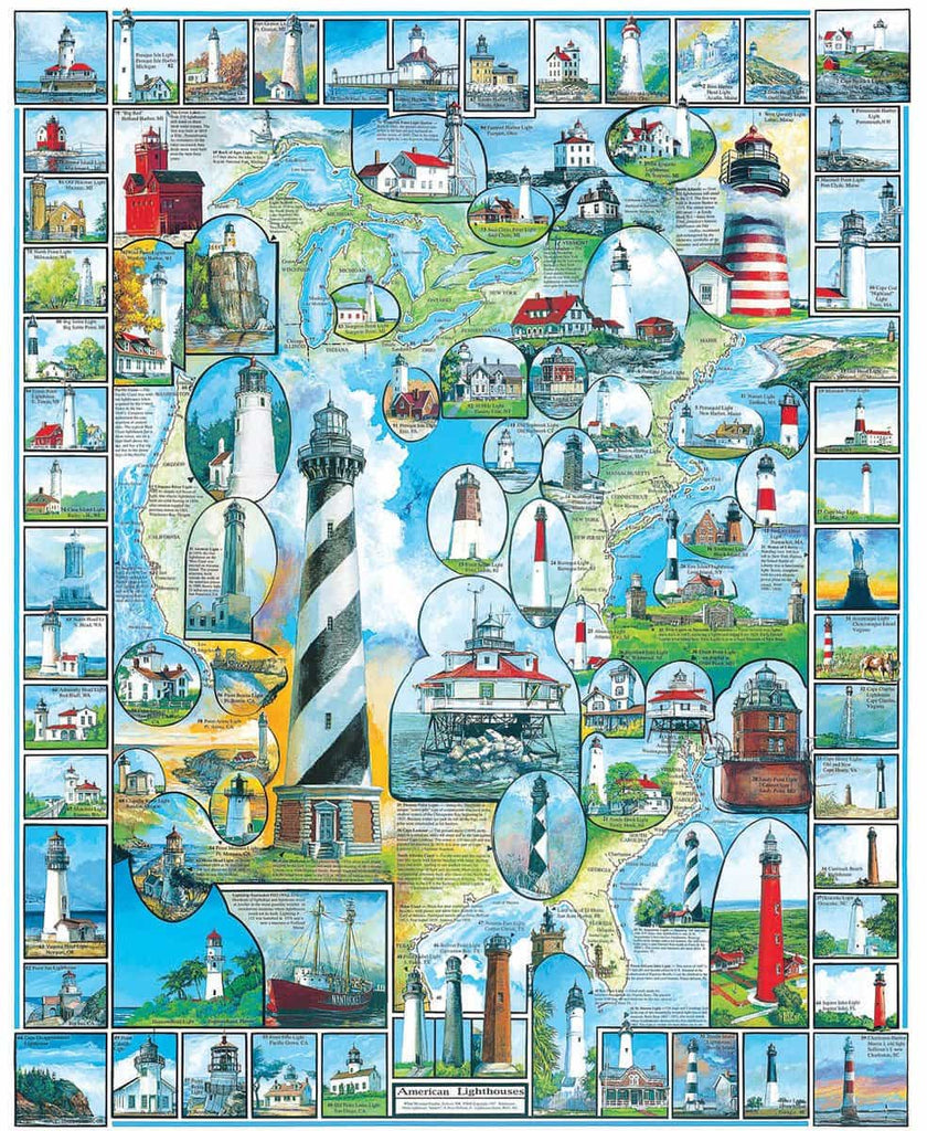 American Lighthouses (132PZ) - 1000 Piece Jigsaw Puzzle