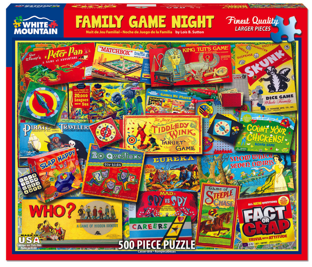Family Game Night (1330pz) - 550 Piece Jigsaw Puzzle
