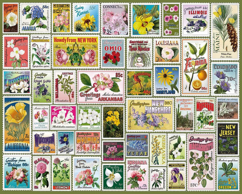 State Flower Stamps - 1000 Pieces