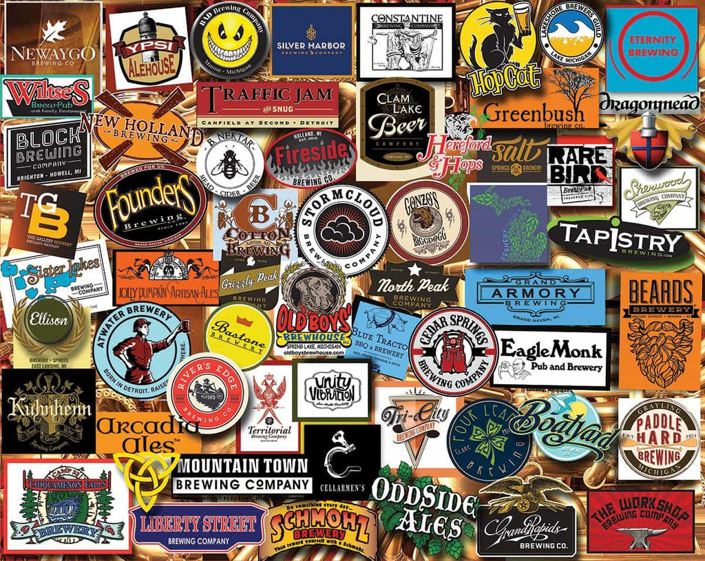 Michigan Beer (1334pz) - 1000 Piece Jigsaw Puzzle