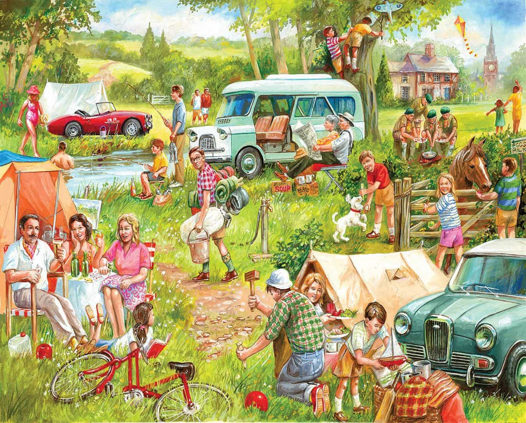 Happy Campers (1337pz) - 1000 Piece Jigsaw Puzzle