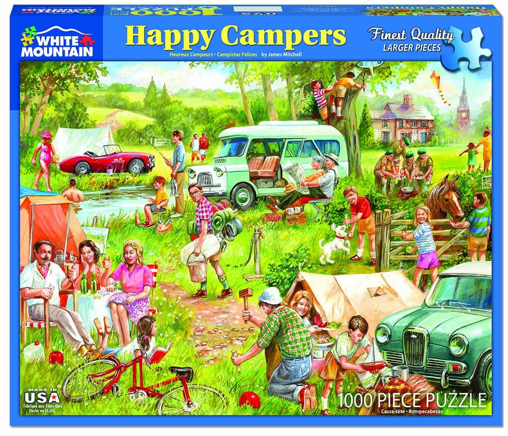 Happy Campers (1337pz) - 1000 Pieces