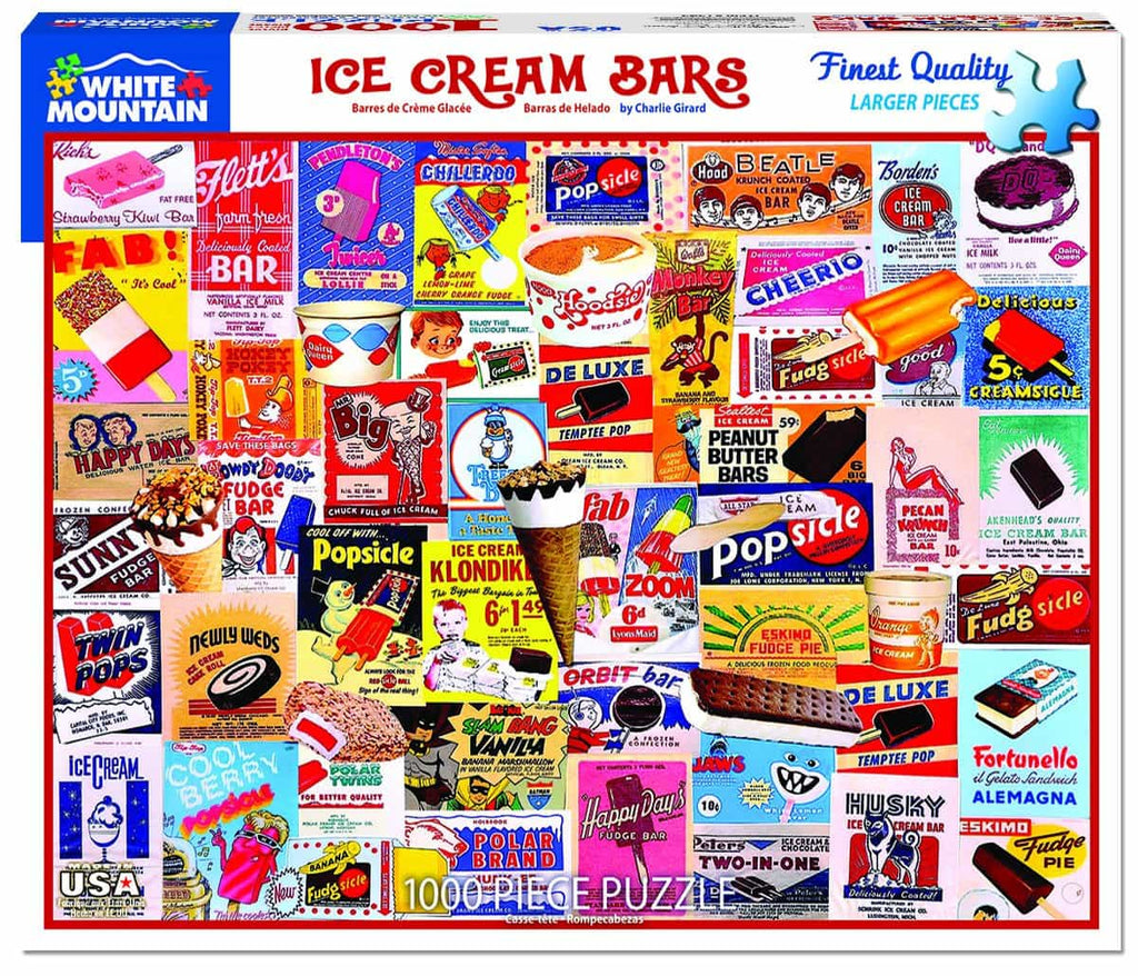 Ice Cream Bars (1343pz) - 1000 Piece Jigsaw Puzzle