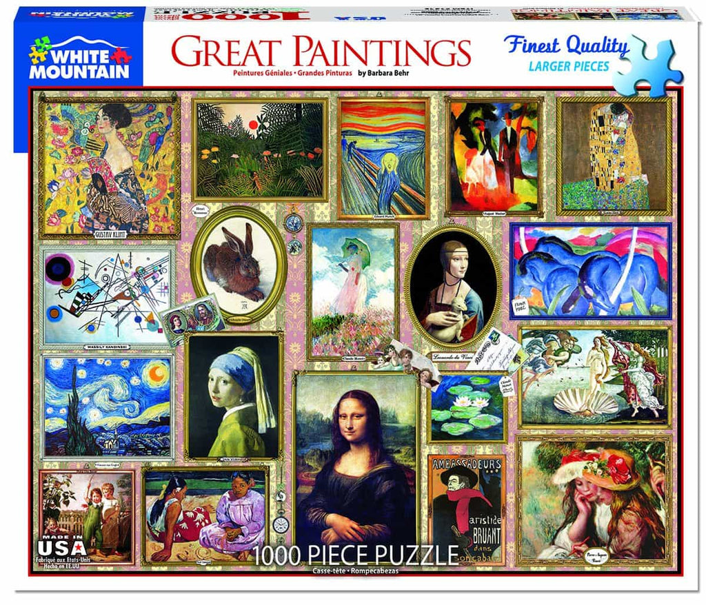Great Paintings (1345pz) - 1000 Piece Jigsaw Puzzle