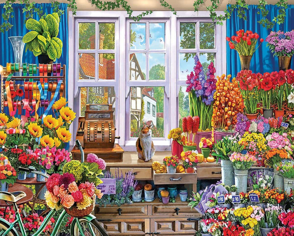 Flower Shoppe (1347pz) - 1000 Piece Jigsaw Puzzle