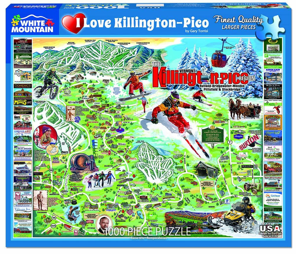 I Love Killington - (1348pz) - 1000 Piece Jigsaw Puzzle