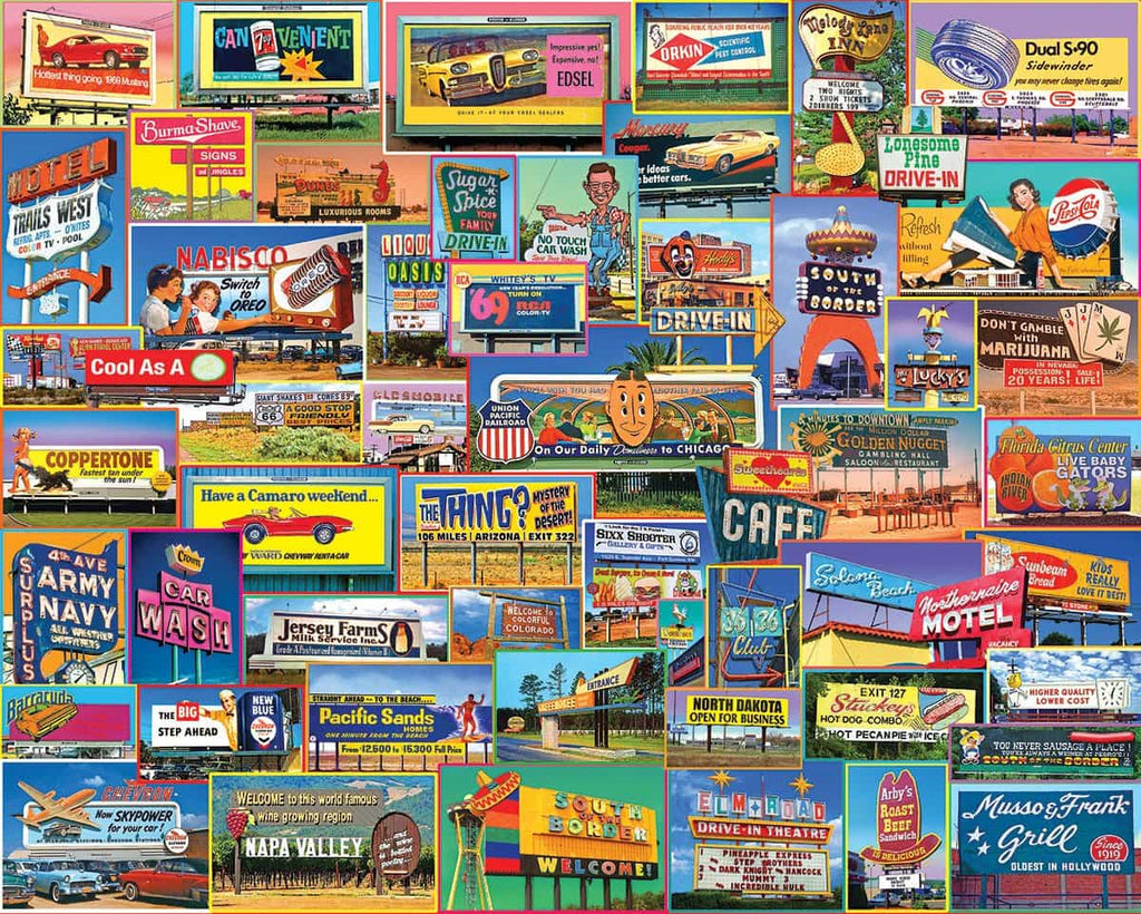 Billboards (1351pz) - 1000 Piece Jigsaw Puzzle