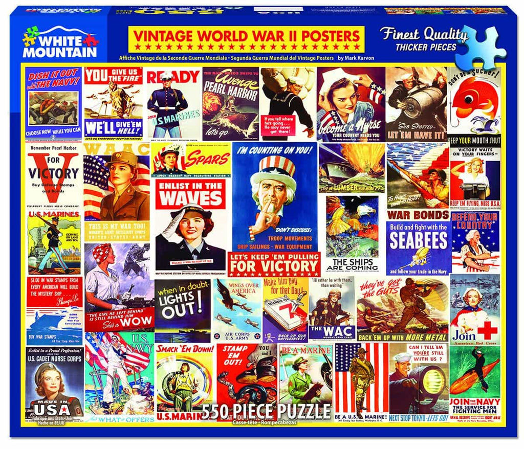 Vintage World War ll Posters (1356PZ) - 550 Piece Jigsaw Puzzle