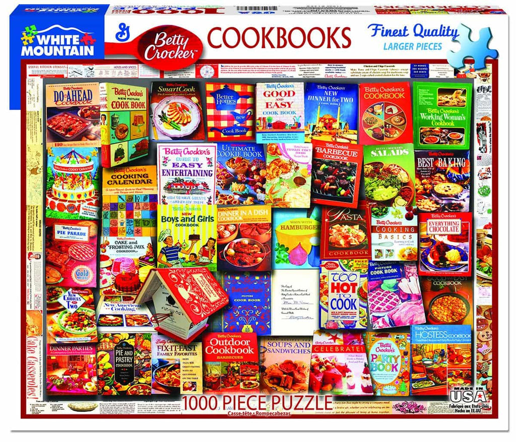 Betty Crocker Cookbooks (1358pz) - 1000 Piece Jigsaw Puzzle