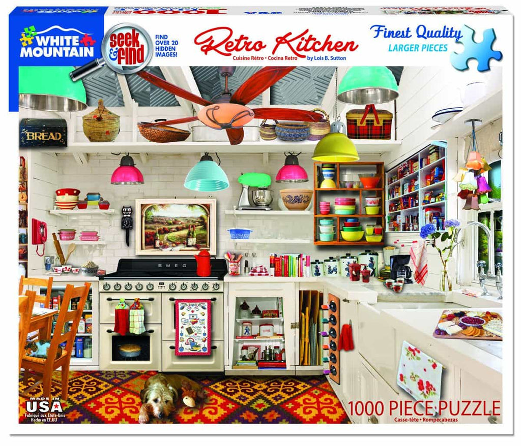 Retro Kitchen Seek & Find (1359pz) - 1000 Piece Jigsaw Puzzle