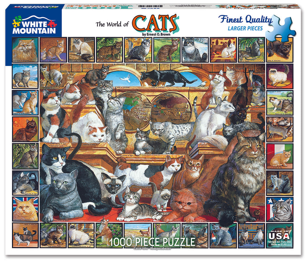 World of Cats (135PZ) - 1000 Piece Jigsaw Puzzle