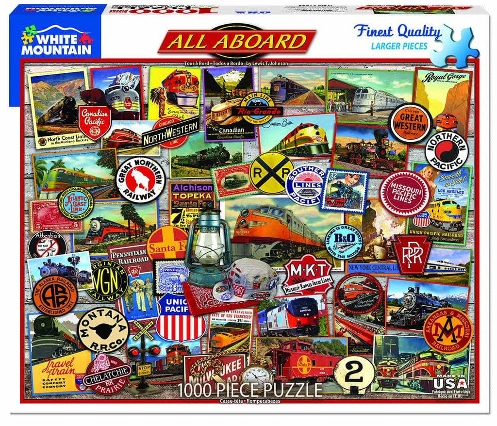 All Aboard (1360pz) - 1000 Piece Jigsaw Puzzle